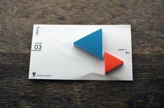 UGUiSU | Sticky Notes: Triangle / blue+red