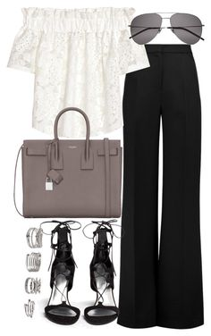 """Untitled #19700"" by florencia95 ❤ liked on Polyvore featuring Roksanda, Yves Saint Laurent, Stuart Weitzman and Forever 21"