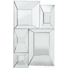 Miroir Five carré biseauté 140 x 85