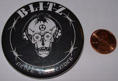 Blitz 2inch 2-inch Mega Button $1.95 #punk #music #buttons #accessories www.drstrange.com