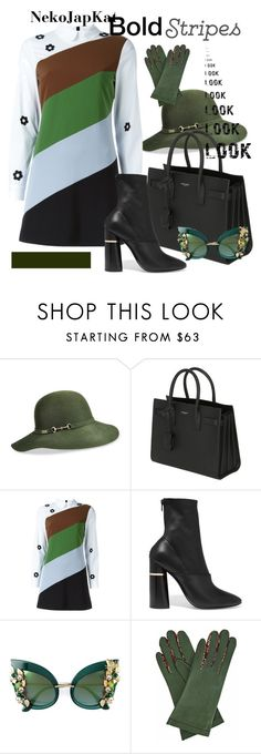 """stripes 2/2"" by neko-m-tucker-smith on Polyvore featuring Betmar, Yves Saint Laurent, VIVETTA, 3.1 Phillip Lim, Dolce&Gabbana and Gizelle Renee"