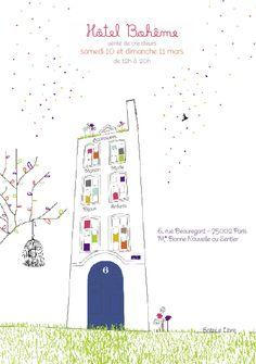 Hôtel Bohême - Vente de créateurs, Paris. 10 et 11 mars 2012. Une trentaine de créateurs présents, dont nous, L'Affiche Moderne