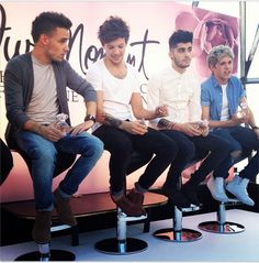 Twitter / 1DFranceUpdates: Liam, Louis, Zayn & Niall at the fragrance event