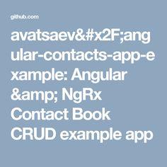 avatsaev/angular-contacts-app-example: Angular & NgRx Contact Book CRUD example app