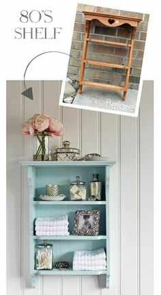 Shelf gets an update from confessionsofaser - upcycling möbel - Furniture Refurbished Furniture, Repurposed Furniture, Shabby Chic Furniture, Cheap Furniture, Furniture Projects, Furniture Making, Furniture Makeover, Vintage Furniture, Bedroom Furniture