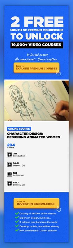 Character Design: Designing Animated Women Illustration, Animation, Drawing, Character Design, Character Animation, Fine Art, Concept Art, Creative, 2d Animation #onlinecourses #onlinetrainingproducts #onlinedegreeIn this online character design course,Tom Bancroftwalks you through the steps of using simplified shapes, how those shapes relate to actual anatomy, using those shapes to create ...