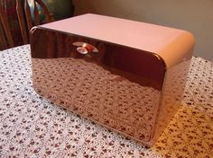 Pink Bread Box Lincoln BeautyWare Beauty Box by PEAKaBooVintage