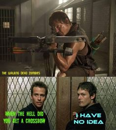 When the hell did you get a crossbow?