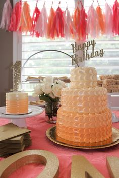 Peach Ombre Birthday