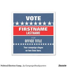 Political Election Campaign Rack Card Template