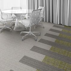 Interface Floor Design            | WW895: Glen Weave, WW860: Natural Tweed, WW860: Linen Tweed |            Find inspiration for your next interior design project with floors composed of modular carpet tiles from Interface