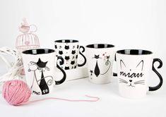 #miau #kotki #koteczki #koty #kochamkoty #czarnykot #kubekzkotem #przyjacielezwierząt #zwierzaki #koteczkidwa Travel Mug, Mugs, Tableware, Dinnerware, Tumblers, Tablewares, Mug, Dishes, Place Settings
