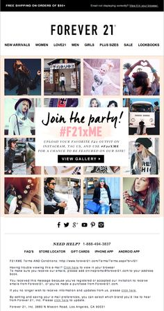 F21   Social Media Email Plus Size Sale, Email Design Inspiration, Folder Design, Email Campaign, F21, Email Marketing, Flyers, Layout Design, Invite