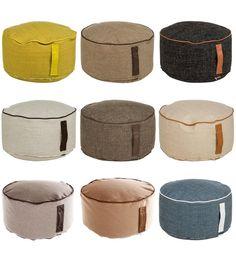 Kleiner Sitzsack Janine / Sitzkissen / Poufs - Sitzhocker in rund, Ø  50 cm x H 30cm  - in verschiedenen Designs