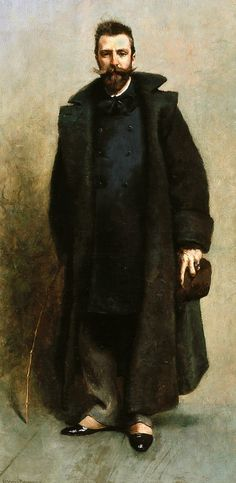 Portrait of William Merritt Chase - James Carroll Beckwith 1881-82