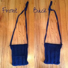 Navy Knit Purse Cute! Zippers and folds over. Bags