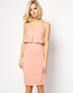 Lavish Alice Pleated Peplum Bodycon Midi Dress - How amazing is the colour on this peplum dress?http://asos.do/uJNHGO