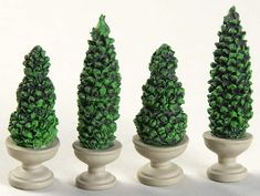 General Village Tree Accessories Uptown Topiaries - No Box by Department 56 Topiaries, Department 56, Cactus Plants, Christmas Ornaments, Box, Accessories, Snare Drum, Topiary, Cacti