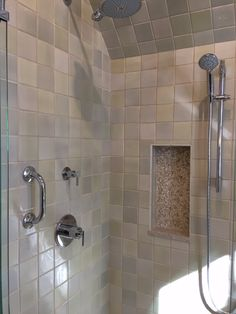 Vertical shower niche with stone background and quartz base Stone Wallpaper, Shower Niche, Wind Chimes, Gemstone Jewelry, 3d Printing, Sink, Stones, Quartz, Crystals