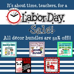 I've done the labor so you can enjoy the weekend.  50% off decor bundles.