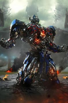 New Look at 'Transformers: The Last Knight' Shows Optimus Prime Wielding a Sword and Fighting Dragons