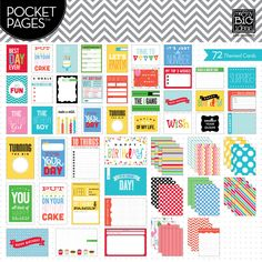 Themed Cards -  Birthday - POCKET PAGES journaling cards