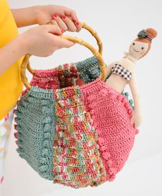 crochet purse by NIHON VOGUE CO #crochetbag
