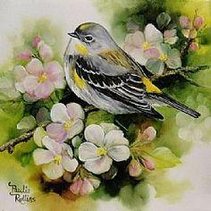 Art: Apple Blossoms by Artist Paulie Rollins