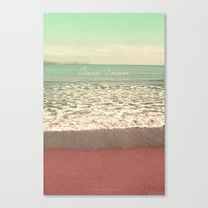 OceanDream I Stretched Canvas by Pia Schneider [atelier COLOUR-VISION] - $85.00,  #photography #coloring #typography #art #artprint #signature #vintage #softcolored #piaschneider #colourvision  #pia #schneider #gift #framed #canvas #ocean #mediteran #sea #crete #impressionism #turquoise #mint #nature  #beach #white #society6