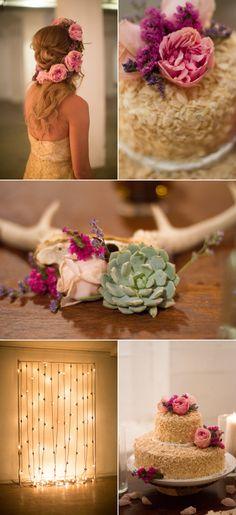 Golden Bohemian Affair in Arizona – Style Me Pretty