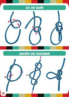 Manual de Nudos - Club de Conquistadores - Noti Conquis Rope Knots, Macrame Knots, Scout Knots, Fishing Storage, Survival Knots, Types Of Knots, Kid Experiments, Fishing Photography, Fashion Vocabulary