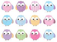 Owls Clip Art Cute Pastel Digital Pink Owl Bird Clipart Commercial Personal Use Scrapbook Teacher Supplies Owl Baby Shower Birthday 10442