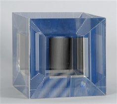 Cube with ambiguous shape, Jesus-Rafael Soto