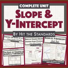 Hey Math Teacher! Save time & money with this amazing BUNDLE! This unit bundles students expectations that address using #tables and #graphs to develop the understanding of #slope and #y-intercept, and writing an #equation in the form y= mx + b that represents the given problem. it contains 4 activit...
