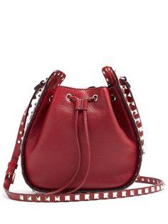 Rockstud leather cross-body bucket bag | Valentino | MATCHESFASHION.COM