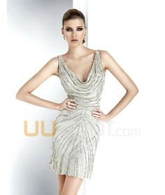 V-neckline Short Chiffon Prom Dress - UUknot.com