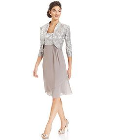 how about this one megan??????? Le Bos Sleeveless Crushed Satin Dress and Jacket
