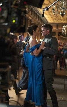 blue dress wonder woman | New images from Wonder Woman