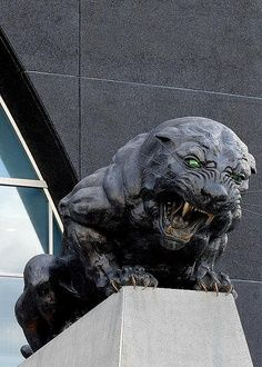 Carolina Panthers Statue: One of six statues outside Bank of America Stadium. Charlotte North Carolina, North Carolina Homes, Charlotte Nc, Charlotte Panthers, Bank Of America Stadium, Buy Gold And Silver, Local Attractions, Survival Life, Sculptures