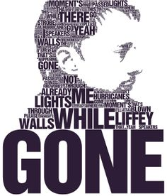 Creating a face out of words is a cool idea for displaying an artist. especially Thom Yorke.