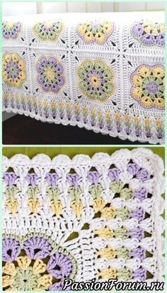 """Crochet Granny Spike Stitch Border Free Pattern only for borderCrochet Primavera Flowers Granny Square Free Pattern and Tutorial[Free Pattern] This Absolute Beauty """"Grannies And Ripples"""" Afghan Is One Of The Most Cleverly Worked Crocheted I've Granny Square Crochet Pattern, Crochet Squares, Crochet Granny, Crochet Motif, Crochet Stitches, Free Crochet, Granny Squares, Granny Square Tutorial, Flower Granny Square"""