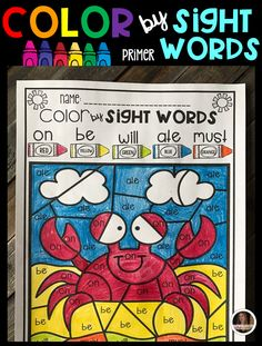 Summer Color by Sight Words (Primer) is a fun and engaging way to practice sight. - Real Time - Diet, Exercise, Fitness, Finance You for Healthy articles ideas Sight Word Worksheets, Sight Word Activities, Learning Activities, Kids Learning, Teaching Ideas, Sight Word Practice, Sight Words, Literacy Stations, Literacy Centers