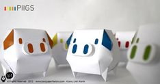PIIGS paper toys by