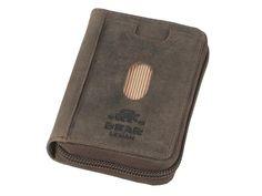 Bear Design DARK-NATURE - Leder RFID Kartenetui Ausweisetui - antikbraun