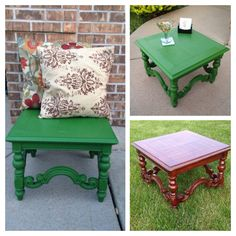 Holla~peño! Love this color transformation! Coffee table, side table or even a seat! By sycamorehomegirl