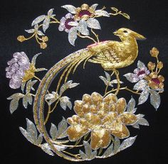 embroidered flowers, stunning