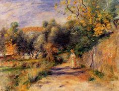 Landscape at Cagnes, (1907-1908) - Pierre-Auguste Renoir