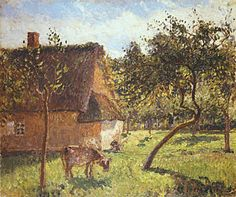 Landscapes Painting - Field At Varengeville by Camille Pissarro