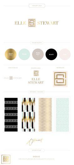 Emily McCarthy Branding | Elle Stewart Branding Board