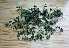 Pequeñas cosas: Hiedra - Pictorial for making miniature ivy with wire and masking tape